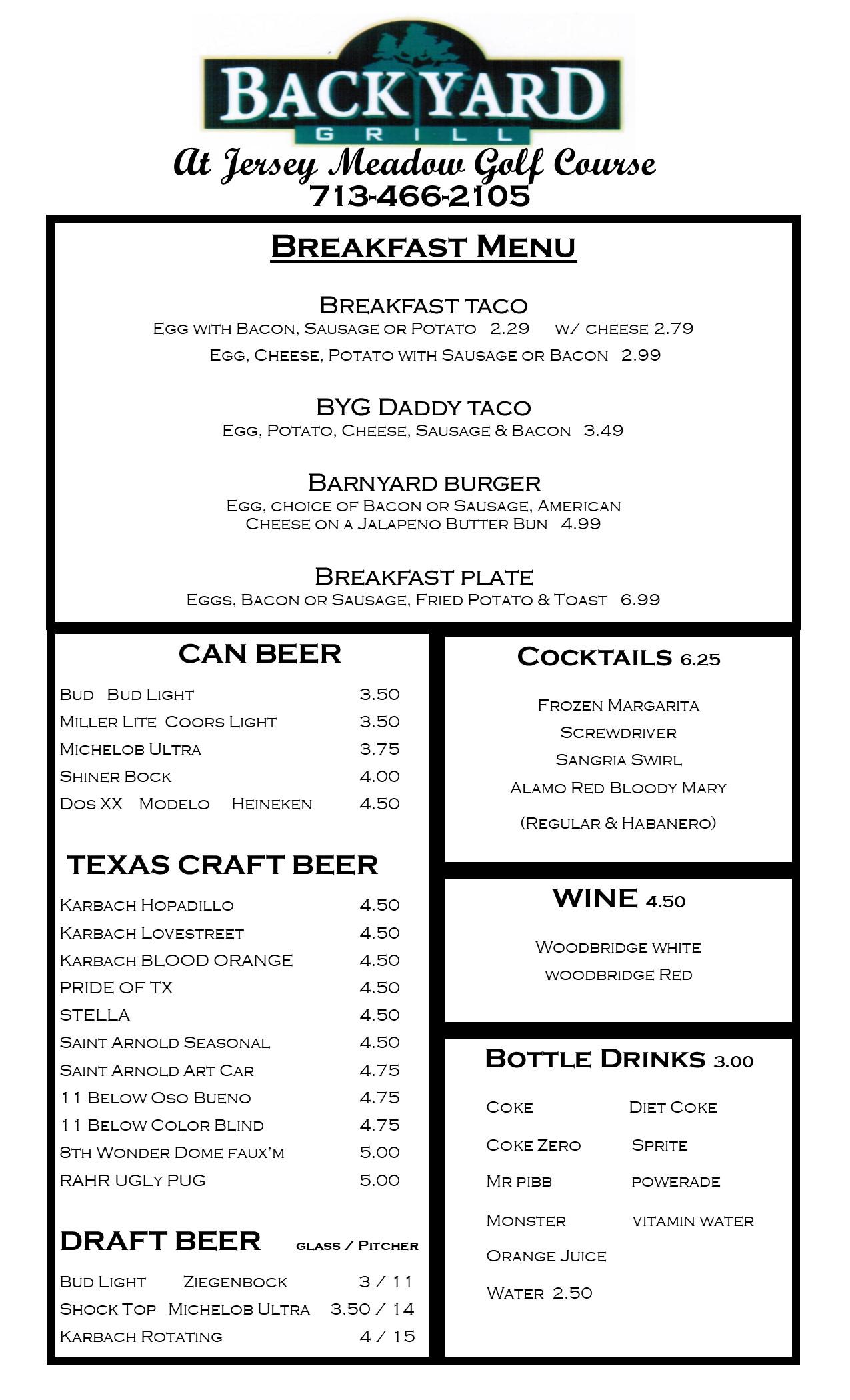 2018 menu byg